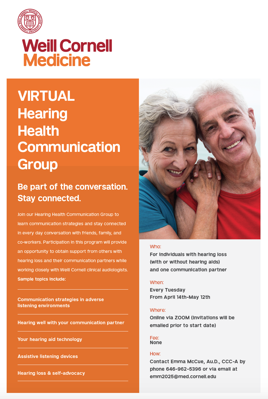 VIRTUAL Hearing Health Communication Group